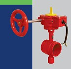 FM UL approved 300PSI Grooved type Butterfly Valve with Tamper Switch