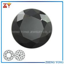 Black Round Diamond Cut Cubic Zriconia/CZ Jewelry