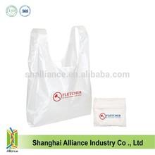 High Quality Silk Screen Printing Logo Polyester Reusable Grocery Foldable Shopping Bag