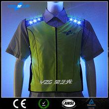 EN20471 flashing waterproof reflective jogging vest running vest