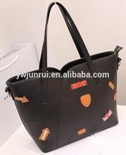 Korean leisure new arrival bat print soft big trendy female shoulder bags in handbags
