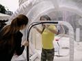 Pvc plsatic transparent en plastique tente