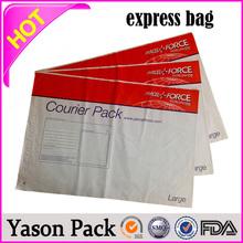 Yason blue color mailing bags poly mailer plastic shipping envelope high quality destructive viscose courier bags