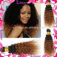 Top Grade Mongolian Virgin Hair Ombre Mongolian Kinky Curly Hair Extension For Black Women