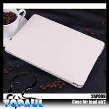 Lower Price leather foldable newest tpu cover case for ipad6