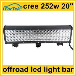 12v/24v 4-row offroad led light bar tube 252w cree led tuning light