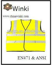 mens casual vest polyester safety vest meeting EN20471