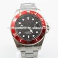 Tendencia 2015 reloj, marca cara rolexable todo de acero inoxidable reloj