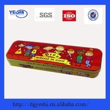 Custom design exquisite wholesale pencil packing tin case for kids