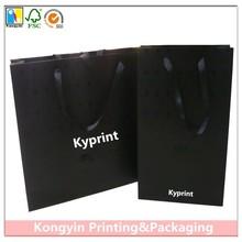 Laminated Carrier Bag,Carrier Paper Bag,Black Paper Bag