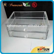 acrylic storage jewelry box with drawer