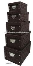 Alibaba China Customized Elegant Luxury Box Flocking Jewellery Box