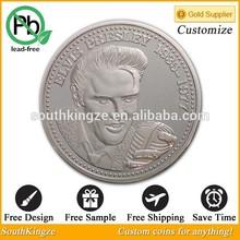 Customize Music Star silver replica coin
