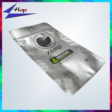 Matt finish printed silver ziplock phone case packing bag recycle