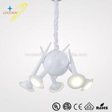 turkiye Irregular LED pendant lamp coffee shop modern acrylic LED chandelier GZ30015-5P