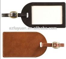wholesale pu leather custom luggage tag