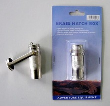 Old-fashioned small metal waterproof match