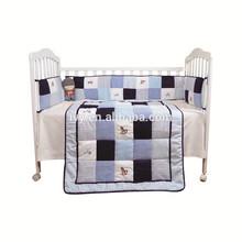 2015 New design kids bed sheets china manufacturing, baby bedding set full bed Guangzhou 100% linen baby bedding set flat sheet