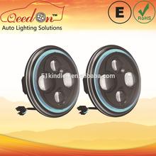 Qeedon 7inch LED Round E-mark DOT Head lights ultra brightness headlight led headlight for Harley Davidson