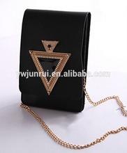 Korean leisure most popular hot sale black fold message modern diamond jeweley cross body bags for phone