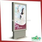 Luminous Indoor light box customizable ad media signage