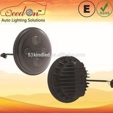 Qeedon 7inch LED Round E-mark DOT Head lights ultra bright h3 led bulbs for Harley Davidson