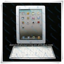 2015 Fancy Silver & White Mini USB 80 Keys Bluetooth Wireless Keyboard For Smartphone/For iPhone/For iPad