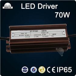 70w waterproof led driver for street light/flood light/high bay light driver