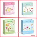 Venta al por mayor bolsa de papel de flores, linda bolsa de papel patrón, bolsa de papel del reino unido