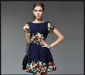 2014 dernières Design femme mode coton petite imprimé Floral robes