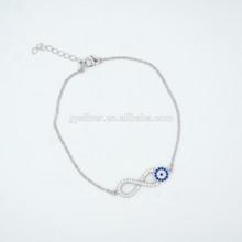 Eveil eye pulseira para senhoras misturar cores projeto 925 pulseira de prata