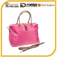 light pink classic travel shoulder bags