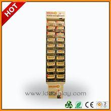 8 shelf cardboard floor display unit ,8 cells retail cardboard stand ,8 cells advertising display rack