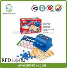 2015 Bingo game set wholesale,intellectual toy simple bingo game set