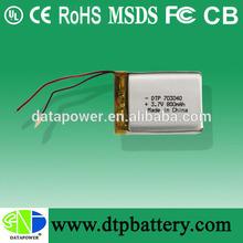 3.7v 800mah lithium polymer battery for RC models
