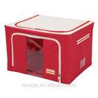 fabric Oxford storage box & bins kids foldable stainless steel storage box with lid