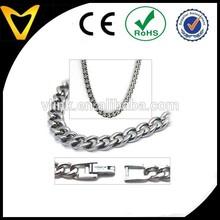 5.5mm Titanium Men's Curb Link Chain Necklace