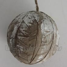 Mejor venta de la navidad colgando decoración de bolas / Natural bola de material / venta al por mayor colgante de bolas