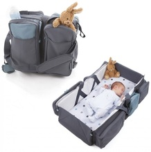 polyester mommy crib diaper bag