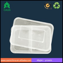 PP Plastic Type and Food Industrial Use Two Compartment 500ml Food Container