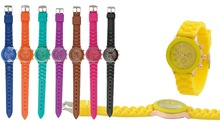 Girl's beautiful colorful watch, 2015 new design lady silicone watch,,Cheap price wholesale women watches.