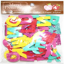 EVA Foam Letter Glittering Stickers/3D Alphabet Stickers For Scrapbooking