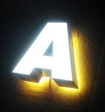 Back illuminated resin channel letter alphabet letters plastic