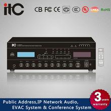TI-240MT Mixer Amp with 3 Balanced Mic Input, 2 Line Input, 1 Aux Input and 1 Line Input
