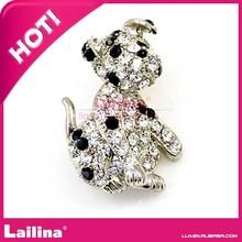 Cute Dog Brooch crystal rhinestone brooch pin For man