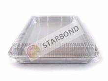 Kitchen use Aluminium foil half size sheet cake pan with plastics lid