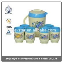 plastic water jug / jug 2000ml + cup 270ml*6pcs