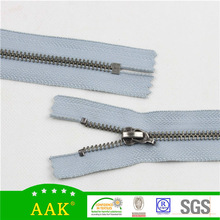 5# light pewter closed end zip no. 5 metal closed end