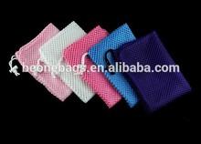 100% nylon mesh ballet drawstring shoe bag