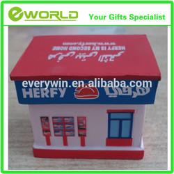 Promotional house customized logo PU toy model houses